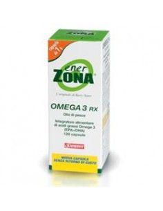 Omega 3 RX - Enerzona Integratore Omega 3 Flacone da 120 capsule da 1 g