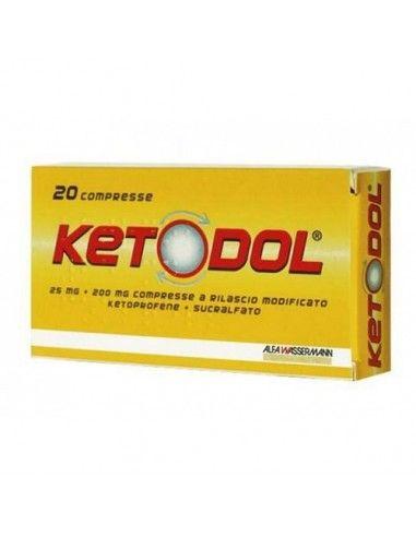 Ketodol 20 Compresse A Rilascio Modificato 25mg + 200mg