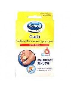 Scholl Calli Trattamento Rimozione e Protezione - Cerotti Callifughi 4 cerotti idrorepellenti + 4 dischetti callifughi