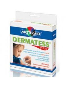 Master Aid Dermatess Plus – Compressa di garza Ipoallergenica Sterile 12 pezzi 10x10 cm