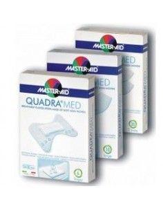 Master Aid Quadra Med - Cerotti in morbido tessuto non tessuto Confezione da 10 pezzi 78x26 mm (formato grande)