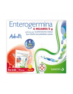 Enterogermina 10 Bustine Polvere Per Sospensione Orale 6 Miliardi/2g