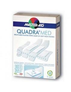 Master Aid Quadra Med - Cerotti in morbido tessuto non tessuto Confezione da 40 pezzi.