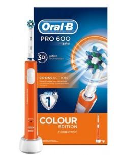 ORAL-B Professional Care - Spazzolino Elettrico Spazzolino elettrico Oral-B PRO 600 CrossAction (Arancio)