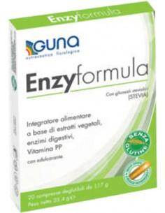 Enzyformula - Integratore con estratti vegetali ed enzimi digestivi 20 compresse deglutibili da 1,18 g
