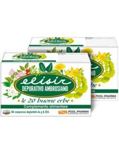 Elisir Depurativo Ambrosiano - le 20 buone erbe 20 compresse deglutibili da 0,265 g