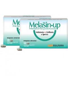 Melasin-up - Melatonina Potenziata + Griffonia e Iperico Confezione da 60  mini-compresse deglutibili