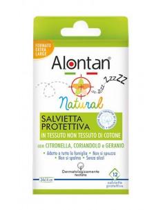 Alontan Natural Salviette Anti Zanzare 12 salviette protettive 34 x 14 cm