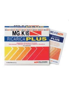 MG.K VIS Ricarica + - Integratore Energetico con Creatina Confezione da 14 Bustine da 6 grammi