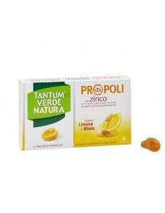 Tantum Verde Natura Propoli (+Zn) - Pastiglie gommose con Propoli e Zinco Blister da 15 pastiglie gommose Gusto Limone e Miele