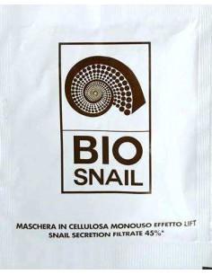 BIO SNAIL Maschera Viso Effetto Lift Bava di Lumaca 45% in Cellulosa Monouso 1 maschera monouso in cellulosa da 18 ml