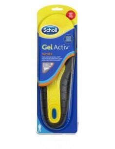 Scholl Solette Gel Activ Professional Work – Per piedi che lavorano 2 solette UOMO – numero: 40-46,5