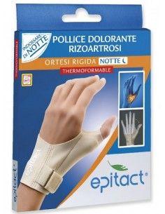 Epitact Ortesi Rigida Rizoartrosi NOTTE Thermoformable 1 Ortesi Correttiva - taglia L mano destra