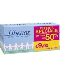 Libenar - Flaconcini isotonici 30 flaconcini + 30 flaconcini da 5
