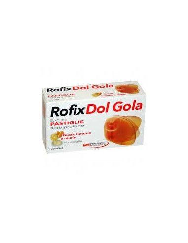RofixDol Gola Pastiglie - 8,75 mg flurbiprofene 16 pastiglie gusto limone e miele