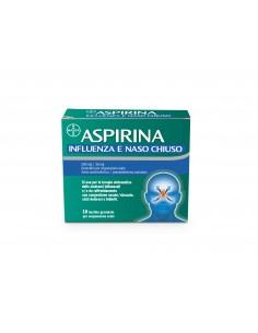 ASPIRINA INFLUENZA E NASO CHIUSO 500 MG / 30 MG GRANULATO PER SOSPENSIONE ORALE