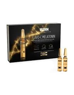 Isdin Flavo-C Melatonin - Siero Riparatore Notte 10 fiale da 2 ml