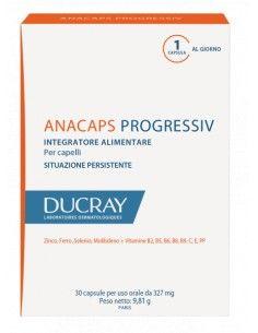 Ducray Anacaps Progressiv - Caduta Cronica dei Capelli 30 capsule per uso orale da 327 mg