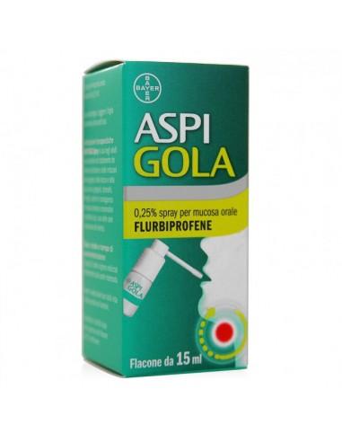Aspi Gola Mal di Gola Spray  15 ml aroma menta
