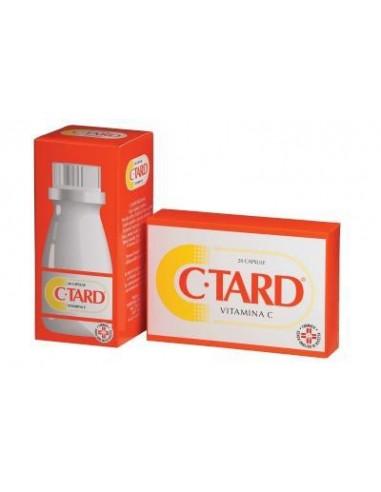 C-Tard - Vitamina C Flacone da 60 capsule da 500 mg cad. contenenti microperline di Vitamina C a cessione prolungata