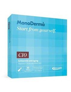 MonoDermà C10 Schiarente Anti-Aging - Vitamina C Acido ascorbico 10% 28 Soft Vegicaps da 0,5 ml (MonoDermoDose uso esterno)