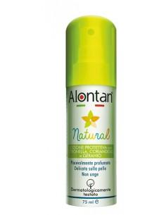 Alontan Spray Natural Lozione Protettiva Anti Zanzare Spray da 75 ml