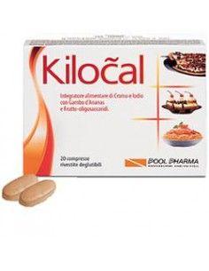 Kilocal Compresse - Integratore Alimentare Astuccio da 20 compresse deglutibili da 840 mg