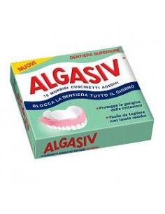 Algasiv - Cuscinetti Adesivi 15 morbidi cuscinetti adesivi per dentiera superiore
